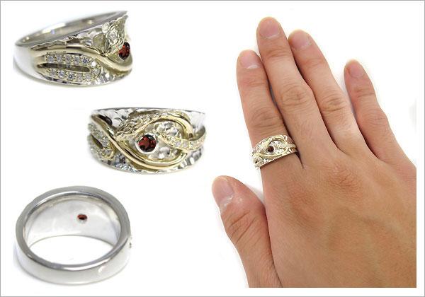メンズ ヘビ 指輪