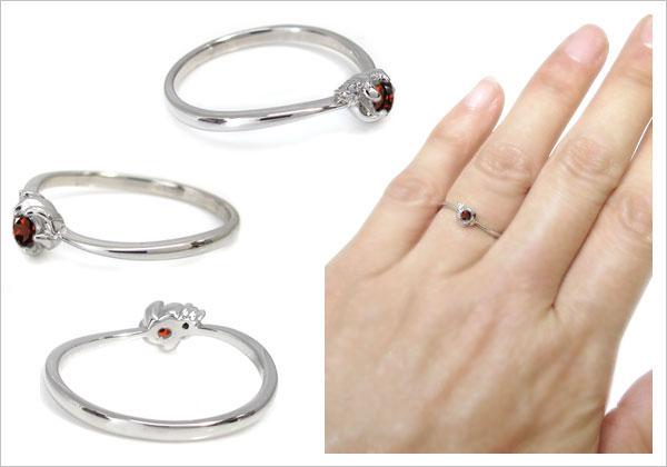 シンプル 指輪 花