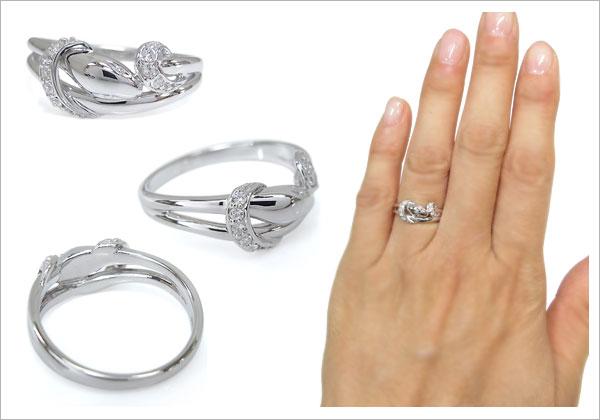 蛇 指輪 ダイヤモンド