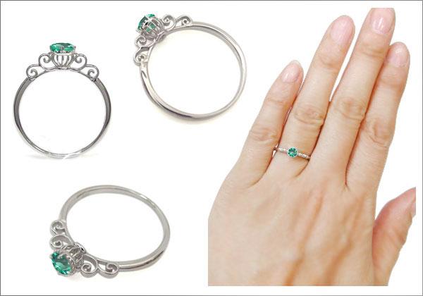 誕生石 唐草 指輪