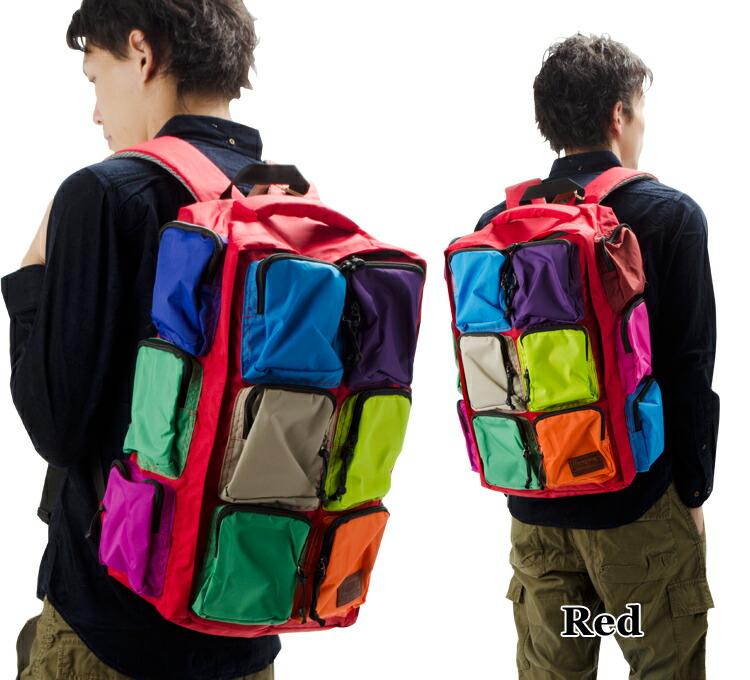 リュック|リュックサック|アウトドア|ナイロン|多ポケット|12ポケット|通勤|通学|バック|鞄|メンズ|レディース|ブランド|リネーム|デイパック