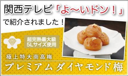 関テレ「よ〜いドン!」でプレミアムダイヤモンド梅が紹介されました