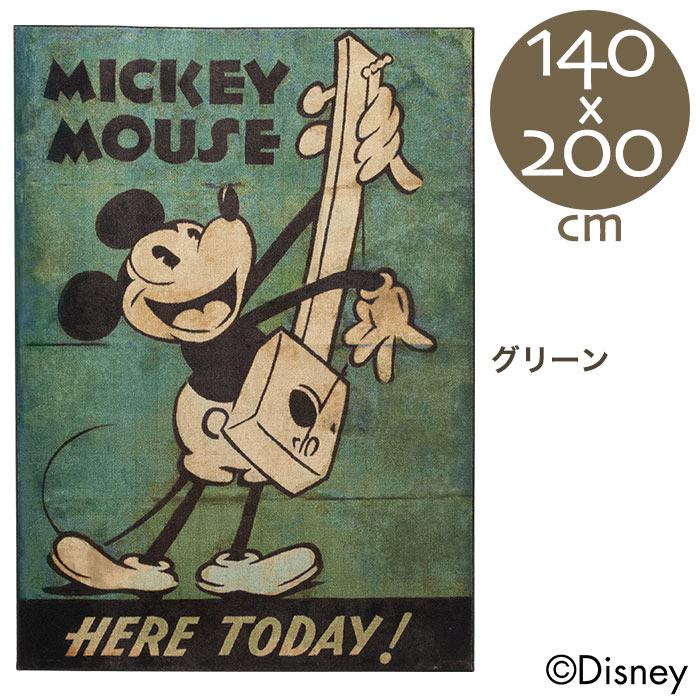 ディズニー ミッキー ミュージックラグ 140×200cm