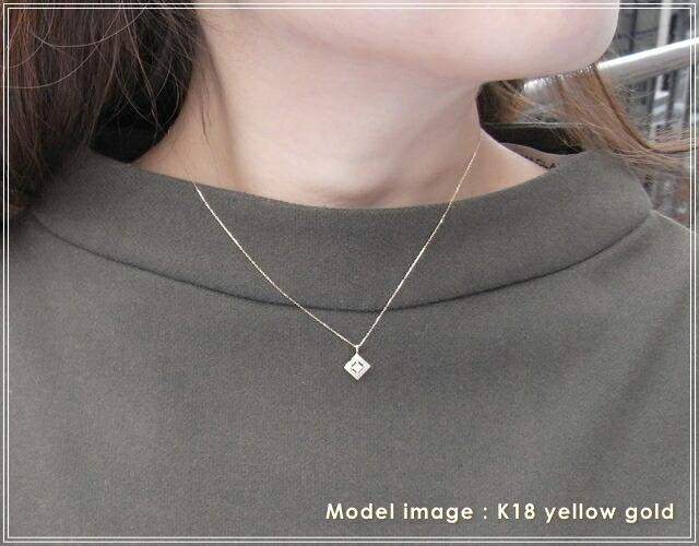 華奢でシンプルな18Kネックレス、K18ゴールド(18金)レディースネックレスの画像2
