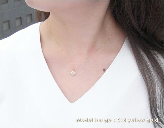 華奢でシンプルな18Kネックレス、K18ゴールド(18金)レディースネックレスの画像3