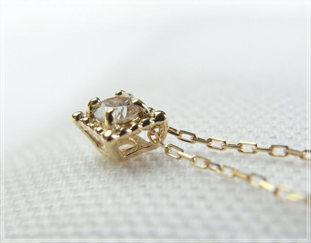 華奢でシンプルな18Kネックレス、K18ゴールド(18金)レディースネックレスの画像5