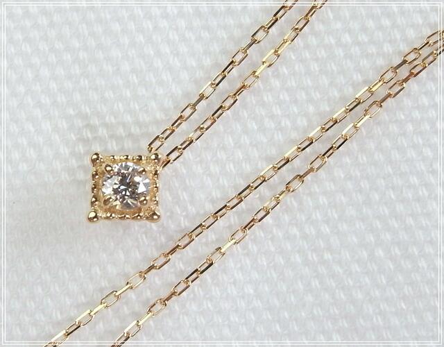 華奢でシンプルな18Kネックレス、K18ゴールド(18金)レディースネックレスの画像6