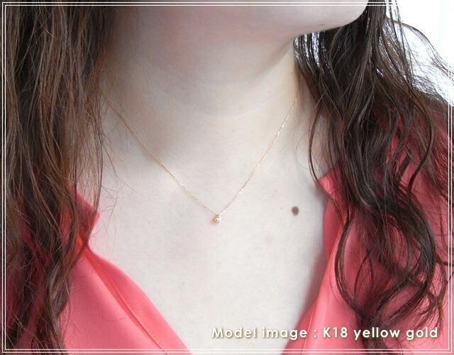華奢でシンプルな18Kネックレス、K18ゴールド(18金)レディースネックレスの画像8
