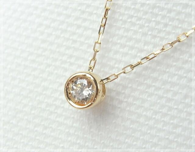 華奢でシンプルな18Kネックレス、K18ゴールド(18金)レディースネックレスの画像4