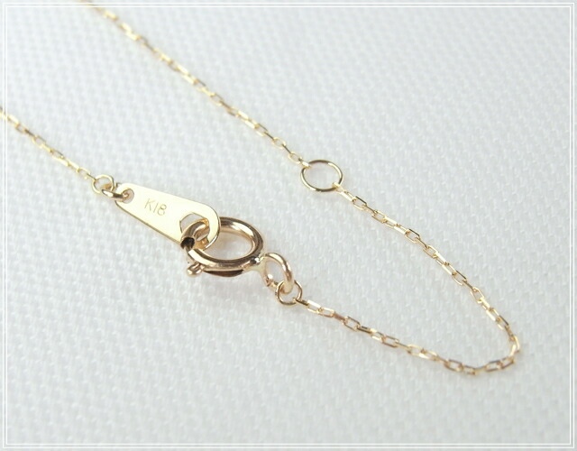 華奢でシンプルな18Kネックレス、K18ゴールド(18金)レディースネックレスの画像7