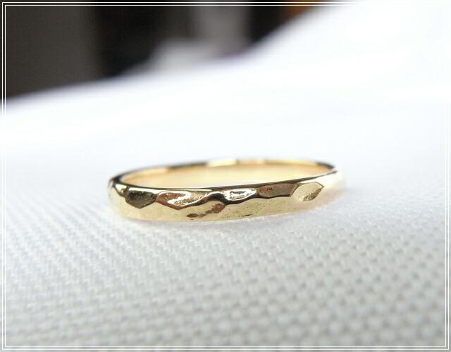 華奢でシンプルな18Kピンキーリング、K18ゴールド(18金)レディースの指輪の画像4
