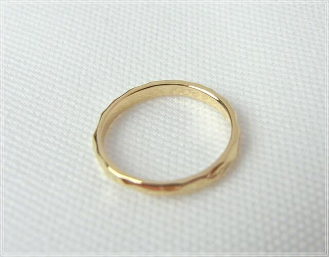 華奢でシンプルな18Kピンキーリング、K18ゴールド(18金)レディースの指輪の画像5