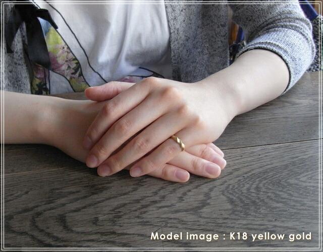 華奢でシンプルな18Kピンキーリング、K18ゴールド(18金)レディースの指輪の画像2
