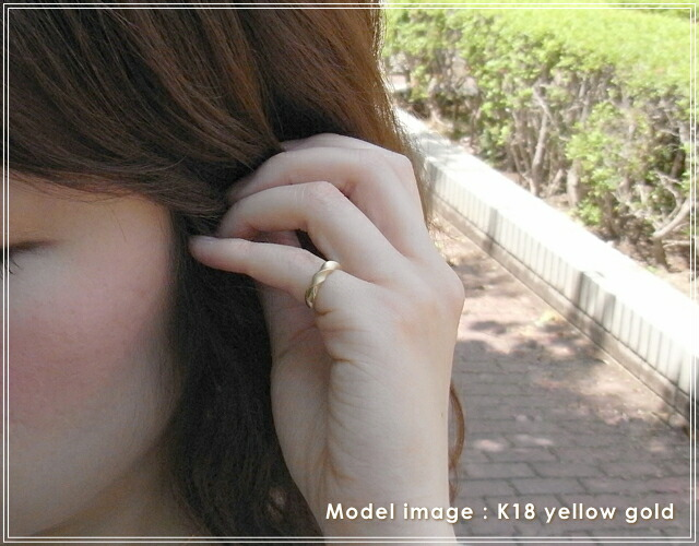華奢でシンプルな18Kピンキーリング、K18ゴールド(18金)レディースの指輪の画像3