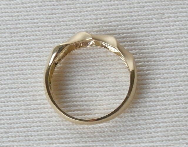 華奢でシンプルな18Kピンキーリング、K18ゴールド(18金)レディースの指輪の画像7