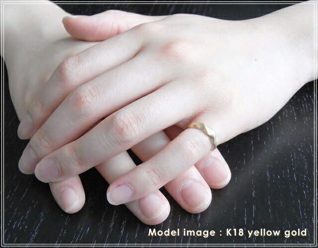 華奢でシンプルな18Kピンキーリング、K18ゴールド(18金)レディースの指輪の画像8