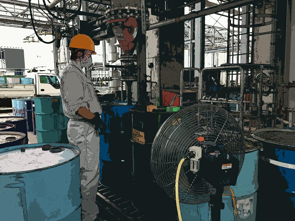 化学薬品工場