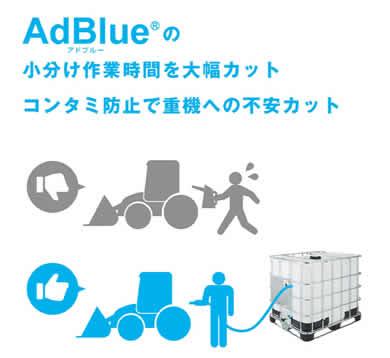 IBCタンクからの小分け アドブルー AdBlue