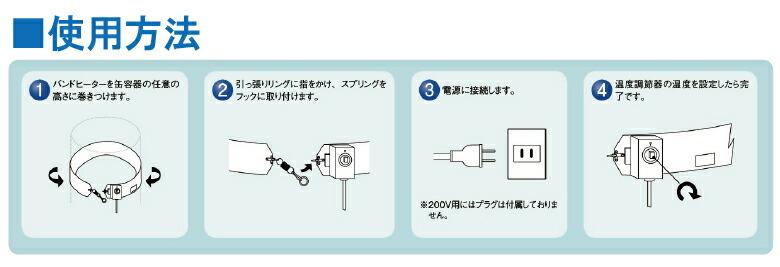 ヤガミ バンドヒーター使用方法