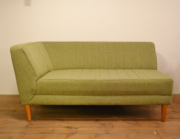 LDソファJM片肘ファブリックグリーン ラウンジスタイルにおすすめのソファ。片肘タイプ
