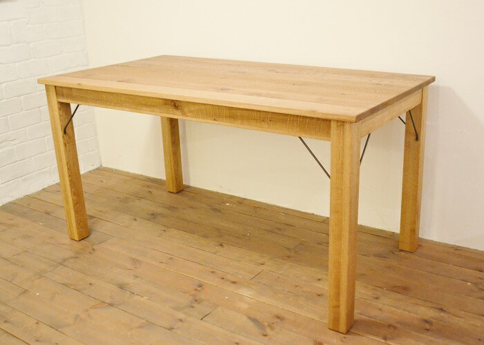 ダイニングテーブルJHwf1 オーク材でできたナチュラルなダイニングテーブル