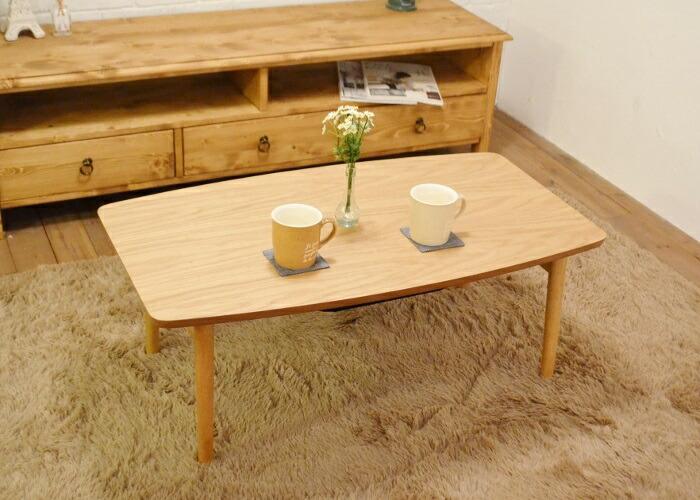 こたつテーブルEL90OAK 折りたたみコタツテーブル幅90cmタイプ