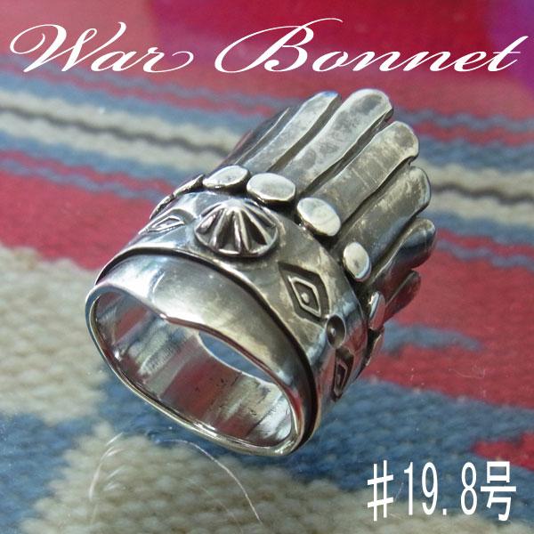 ヘッドドレス (War Bonnet)を表現したハンドメイド シルバーリング!