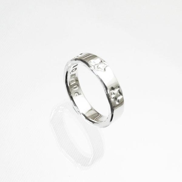 スター 星 ハンドメイドシルバー シンプルリング(指輪)
