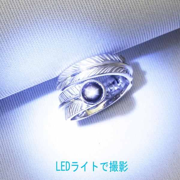 ブラック スターサファイア シルバー イーグルフェザーリング 指輪