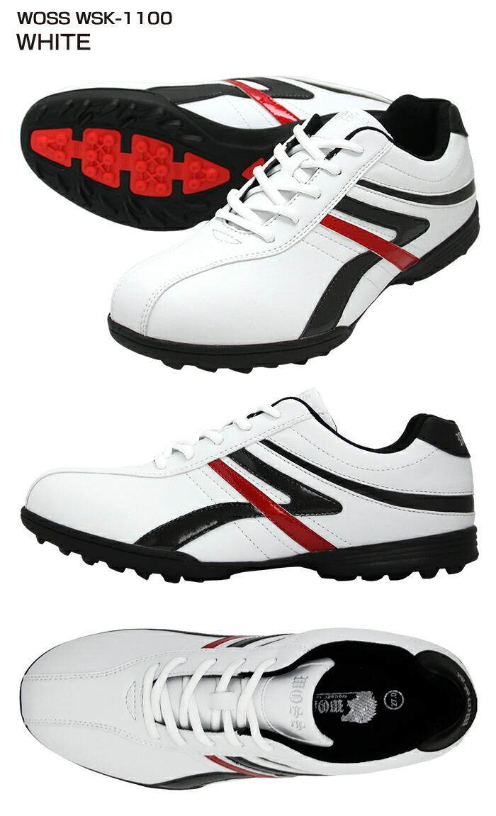ゴルフシューズ スパイクレス【WOSS/ウォズ】wsk-1100ホワイト
