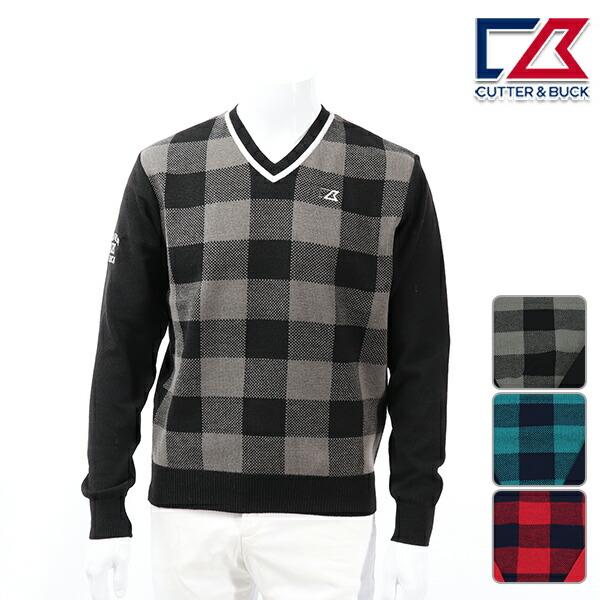 カッターアンドバック メンズ セーター 秋冬 ゴルフウェア