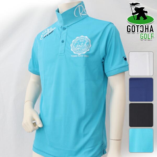 ガッチャゴルフ メンズ 半袖シャツ 春夏 ゴルフウェア