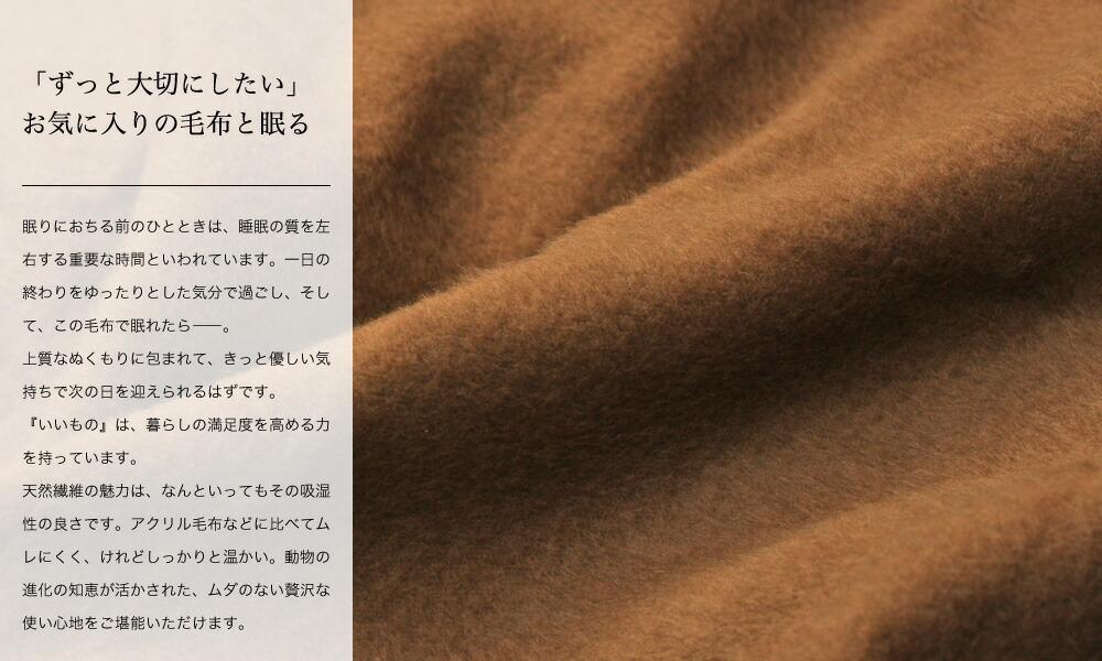 キャメル毛布