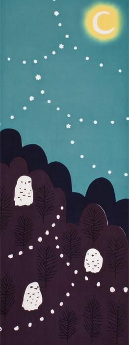 月夜にフクロウ