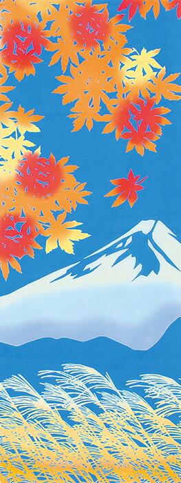 富士山に紅葉