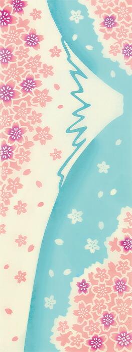 満開の桜と富士