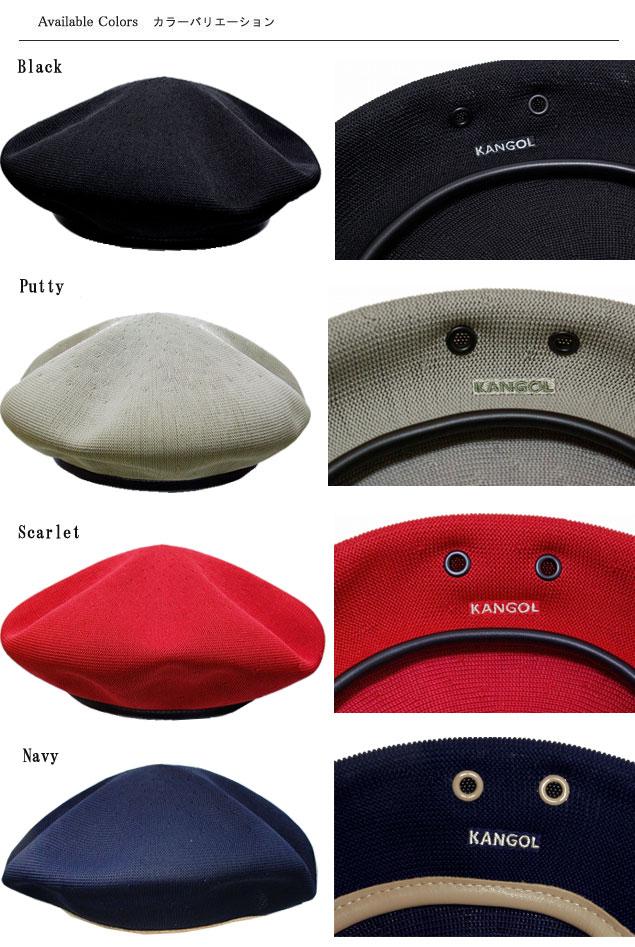 215b1a7ff ANGOL KANGOL Cap beret Cap MONTY TROPIC tropic Monty Black Putty Scarlet  Navy