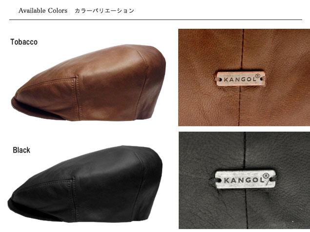 prast-inc  KANGOL LEATHER CAP KANGOL leather Cap Tobacco Black ... 74534f7456f