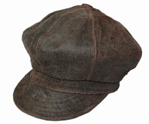 c79645213ce2a New York Hat New York Hat leather newsboy 9245 ANTIQUE LEATHER SPITFIRE  antique Leather-Brown