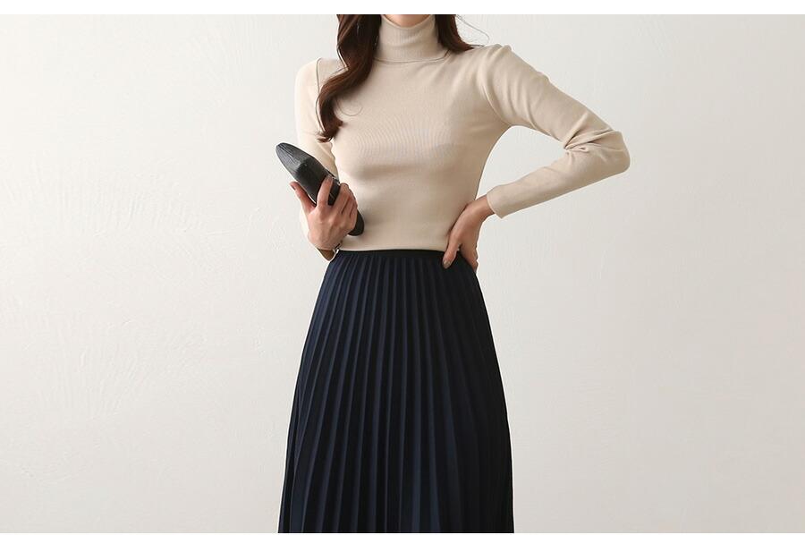 寒い日もおしゃれに穿きたい♪ウールプリーツスカート