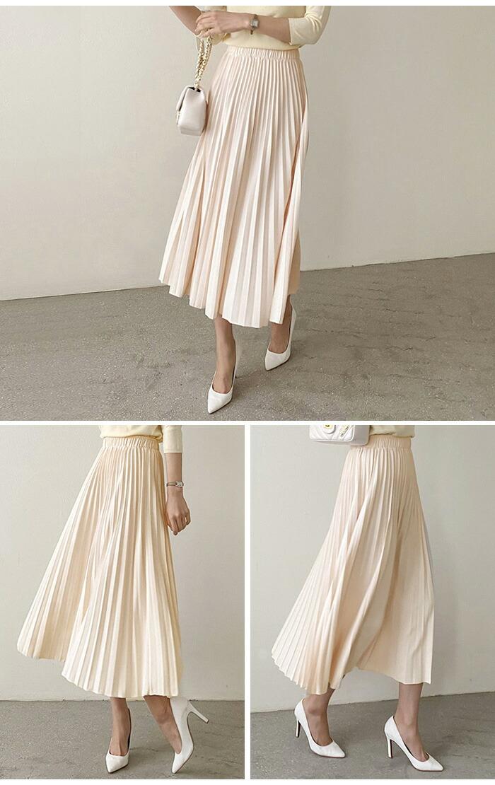 美しいプリーツにうっとり♪バンドプリーツスカート