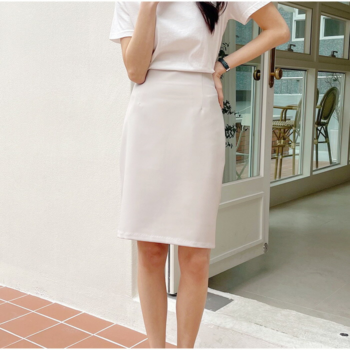 オフィスコーデの必需品♪Hラインストレッチショートスカート