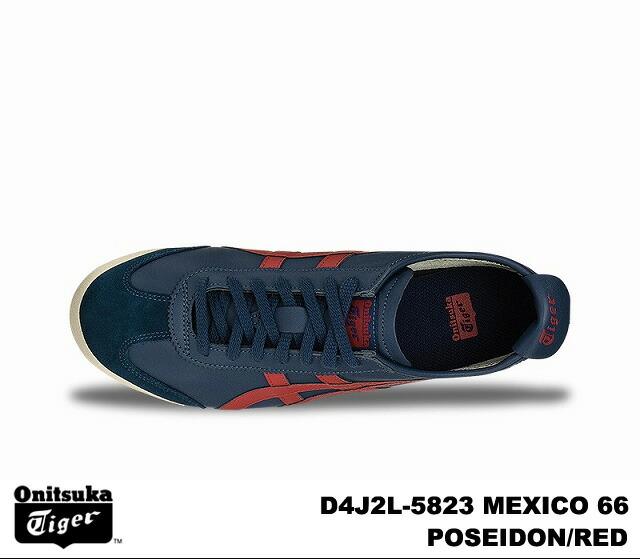 promo code a74b2 5c302 Onitsuka Tiger Mexico 66 Mexico men's women's sneaker Poseidon red Onitsuka  Tiger MEXICO66 MEXICO D4J 2L-5823 POSEIDON/RED