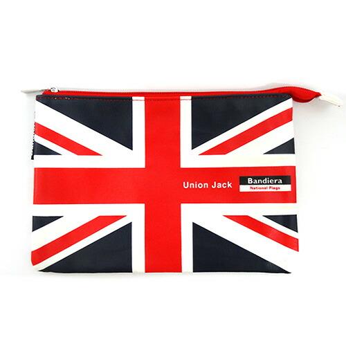 Bandiera(バンディエラ) ナショナル フラッグ フラットポーチ M UK