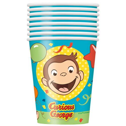 キュリアスジョージ(おさるのジョージ) 8pcペーパーカップ