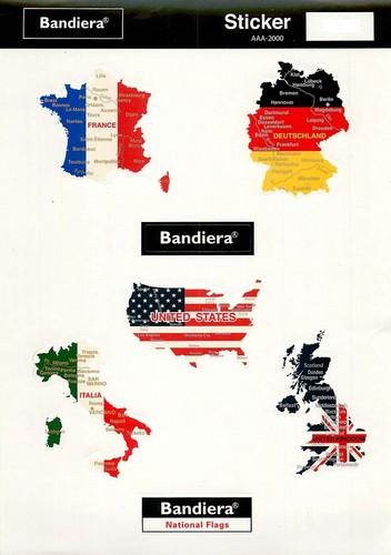 Bandiera(バンディエラ)  ミニステッカーセットL