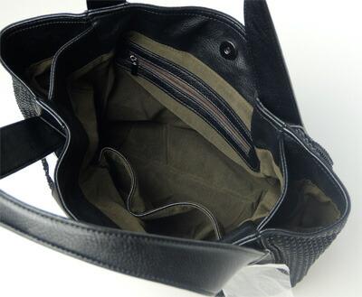 ANNA BIANCHI アンナ・ビアンキ ラインストーン トートバッグ J-6 Black/Black