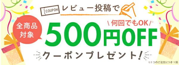 レビュー投稿で300円クーポン