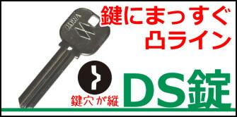 鍵にまっすぐ凸ライン。DS錠