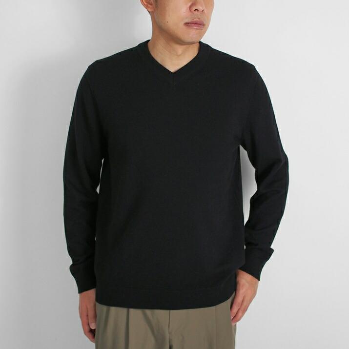 カシミヤ100%メンズVネックセーター